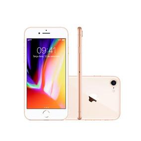Iphone 8 4.7 Pol, Câmera 12mp + Frontal 7mp 64gb Dourado
