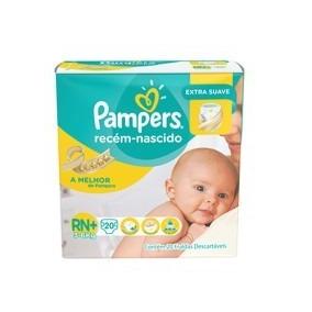 Fralda Pampers Rescem Nascido Rn 20 Un (kit 5 Pacotes)