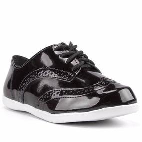 Sapato Oxford Verniz Molekinha Preto