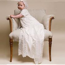 Mandrião Vestido Bebê Batizado Batismo Realeza Luxo