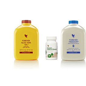 Kit Aloe Vera Gel + Forever Freedon E Fields Of Greens