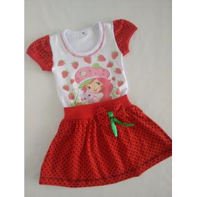 Vestido Infantil Moranguinho - Roupa/ Fantasia