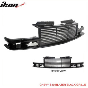 Parrilla Negra Tipo Billet Chevrolet S10 Blazer 98-05