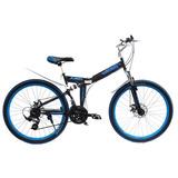 Bicicleta Dobrável Aro 26 Marca Meant - Preta/azul