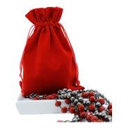 10 Saquinhos De Veludo Vermelho Joalheria - 10 X 12 Cm