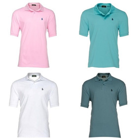 Pack 4 Playeras Tipo Polo - Polo Club