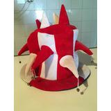Vendo Sombrero Arlequín Hora Loca Para Fiesta Blanco Y Rojo