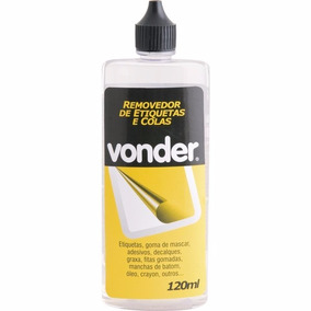 Removedor Cola Etiquetas Adesivos Fita Vonder 120ml