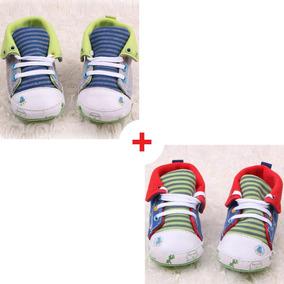 Promoção 2 Pares Tênis Bebê Conforto 0-4 Meses Carrinho Xixi