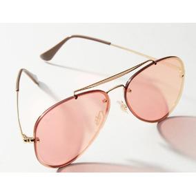 49af5b7f96131 Óculos Ray Ban Aviador Blaze Rb3584n Lente Rosa Espelhado. R  185