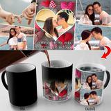 Taza Mágica Día Enamorados Collage 5 Fotos , 11oz - 15oz