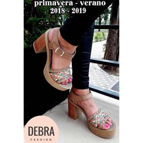 Zapatos Sandalias Mujer Plataforma Fiesta Debra Fashion 410