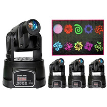 Kit 2 Mini Moving Iluminacao Spot Rgbw 15watts Gobos Giram