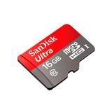 Tarjeta De Memoria Microsd 16gb Sandisk Clase 10