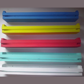 Prateleira Decorativa Livros Infantil 50 X10 X 8 C/ Pintura