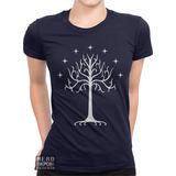 Baby Look Senhor Dos Anéis Lord Rings Árvore Branca Gondor