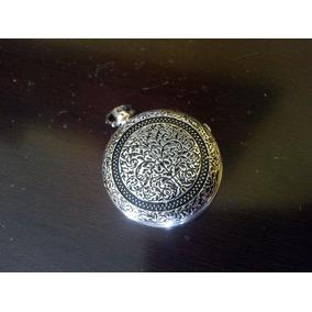 Relógio De Bolso Numerais Romanos Heritage Mecanismo Corda