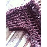 Poncho Xale De Lã Crochê Pelos