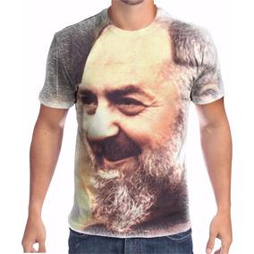 Camisa Camiseta Santo Padre Pio Religiosa 4