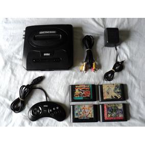 Paquete Consola Sega Genesis Slim Modificada Con 4 Cartuchos