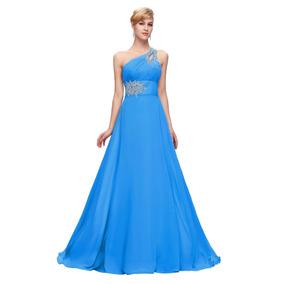 Vestidos de fiesta largos azul celeste