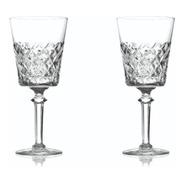 Set De 2 Copas De Cristal Tallado Para Agua