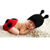 Conjunto Foto Roupa Bebê Recém Nascido Joaninha Cod 4503