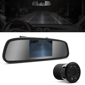 Kit Retrovisor Com Camera De Re Visao Noturna 4,3 Polegadas