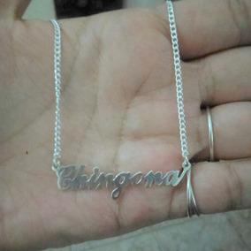 Collar De Plata Ley 925 Chingona Personalizado Envío Gratis