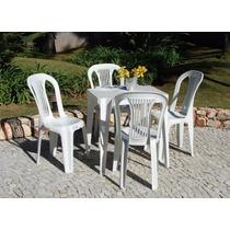 Conjunto De Mesas E Cadeiras De Plástico Para 154kg Inmetro