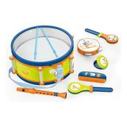 Set Musical Infantil 8 Instrumentos Tambor Flauta Armonica