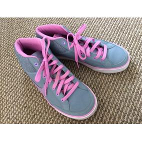 Zapatillas Mujer 38.5 Nike Gris Y Rosadas
