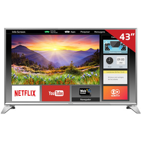 Smart Tv Led 43 Tc-43es630b Panasonic, Full Hd Hdmi Usb E W