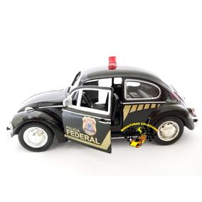Miniatura Fusca Polícia Federal 1:32 Rmz 1967