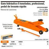 Gato Caiman 5 Tonela Truper Codigo14957 Ideal Para Cauchera