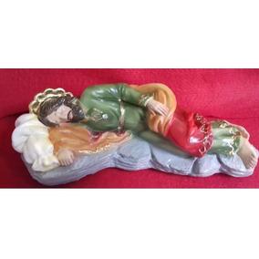 Imagem São José Dormindo Escultura 20cm Original Estátua