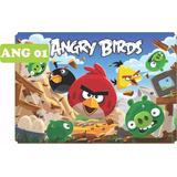 Painel Lona Fosca Festa 1,00x1,50 Angry Birds Mod. 01