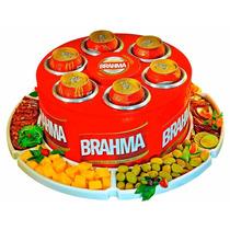 Cooler Giratória 3g Térmica Petisqueira 6 Porta Lata Brahma
