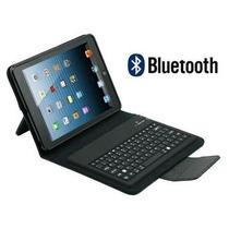 Capa Teclado Ipad Mini 1 2 3 Bluetooth Preta Queima Estoque