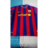 Franela Camiseta Fútbol Del Barcelona Nike Usada