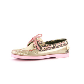 Zapatos Nauticos Mocasines Peskdores Dorado Print Dp0009