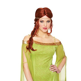 Costume Culture Mujer Medieval Trenza Peluca, Rojo Natural,