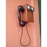 Telefone Antigo De Parede Madeira Raridade