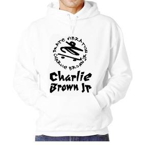 Blusa Moletom Charlie Brown Jr Capuz Bolso Banda Camisa Cbjr