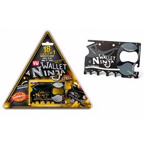 Ninja Wallet Tarjeta Acero 18 Herramientas En 1 Multifuncion