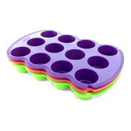 Molde Muffin Cupcake X 12 Silicona Repostería Horno Micro
