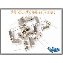 Cristal Oscilador 14.31818 Mhz Ntsc
