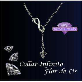 4 Dijes Flor De Lis Con Collar Infinito Envío Gratis