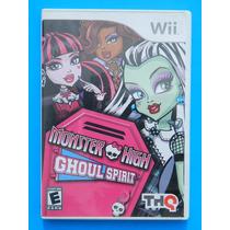 Nintendo Wii Monster High Como Nuevo Para Regalo De Navidad
