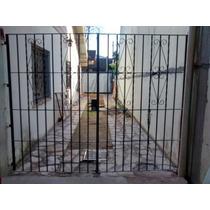 Porton De Reja Antiguo 2 Hojas 2.60 M Ancho Hierro Macizo